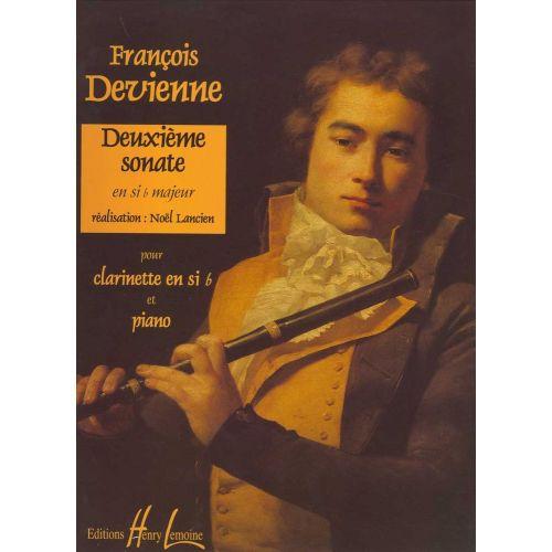 DeuxiemeSonateinB-Durpara clarinete y piano.FrancoisDevienne