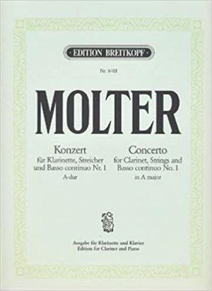 KonzertNo.1inA-Dur para clarinete (en A o D) y piano. JohannMelchior Molter