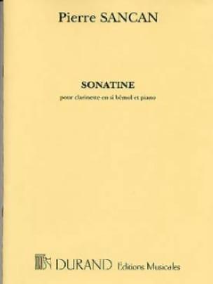 Sonatinepara clarinete y piano. Pierre Sancan