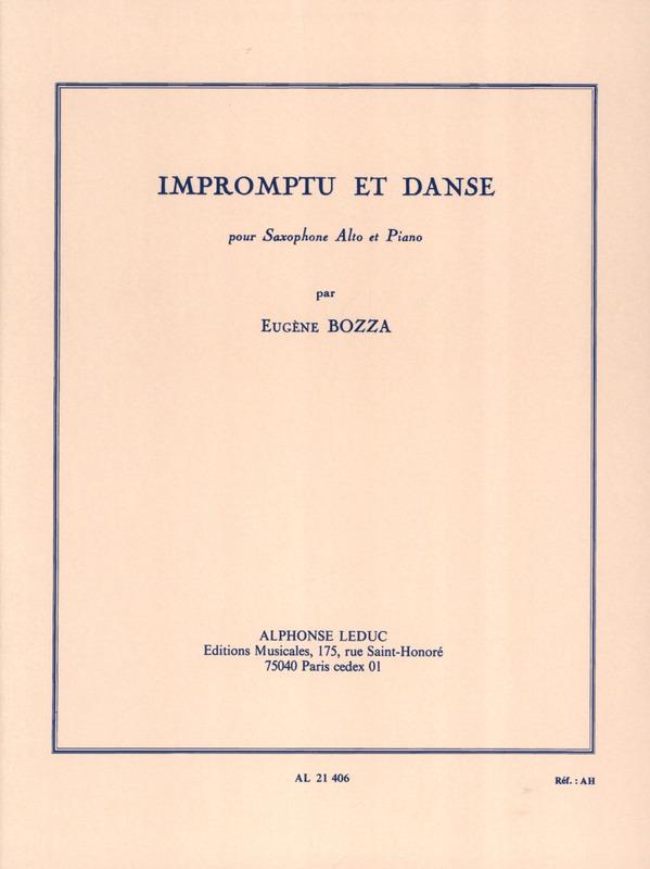 ImpromptuetDanse(1954)para saxofón alto y piano. Eugene Bozza