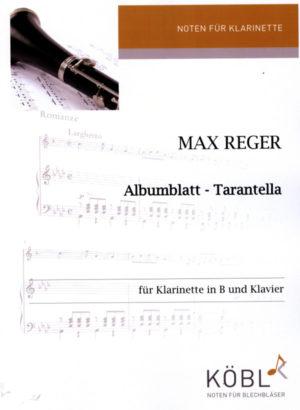 AlbumblattundTarantellapara clarinete y piano. MaxReger