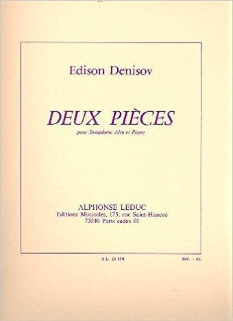 DeuxPieces(1974) para saxofón alto y piano.Edison Denisov
