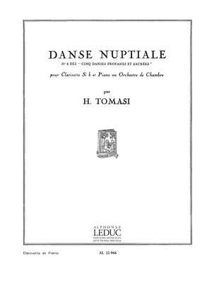 DanseNuptiale.No.4des'CinqDansesProfanesetSacrees'para clarinete. Henri Tomasi