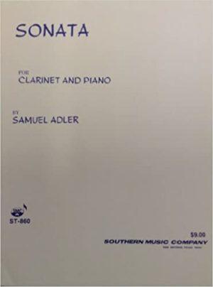 Sonata para clarinete y piano.Samuel Adler