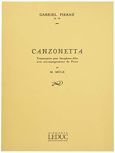 Canzonettaop.19para clarinete y piano. Gabriel Pierne