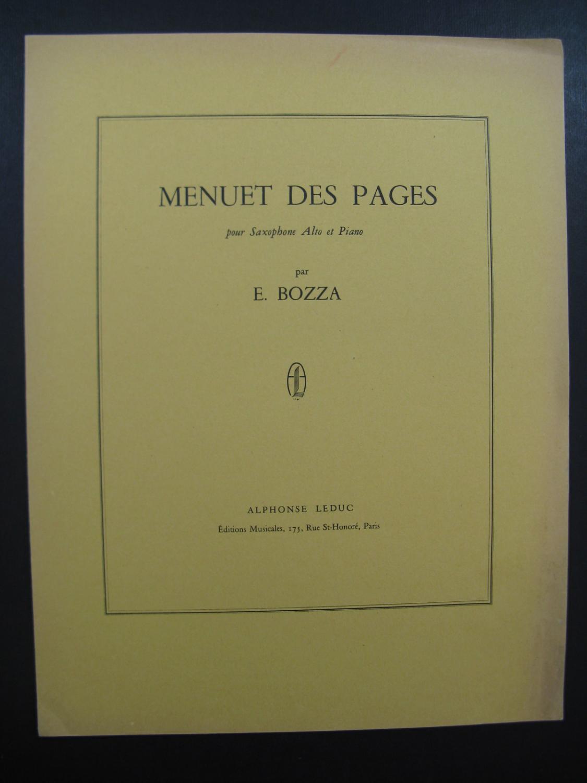 MenuetdesPages(1964)para saxofón alto y piano. Eugene Bozza