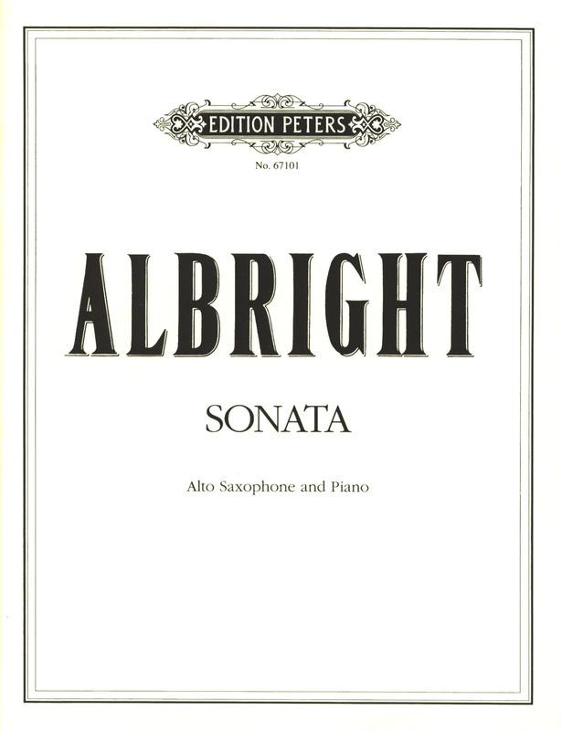 Sonata(1984)para saxofón alto y piano.William Albright
