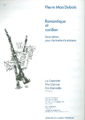 RomantiqueetCarillon(1979) para clarinete y piano.PierreMax Dubois