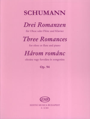 DreiRomanzenop.94para saxofón alto y piano. RobertSchumann