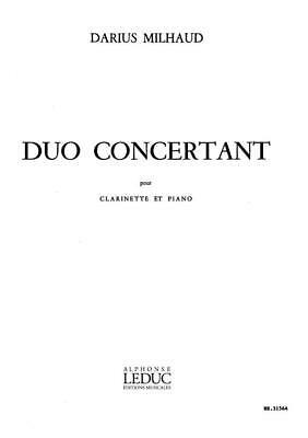 DuoConcertantpara clarinete y piano. Darius Milhaud