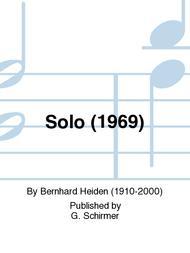 Solo(1969)para saxofón alto y piano. Bernhard Heiden