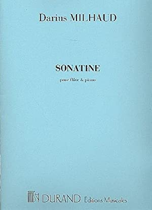 Sonatine(1927)para clarinete y piano.Darius Milhaud