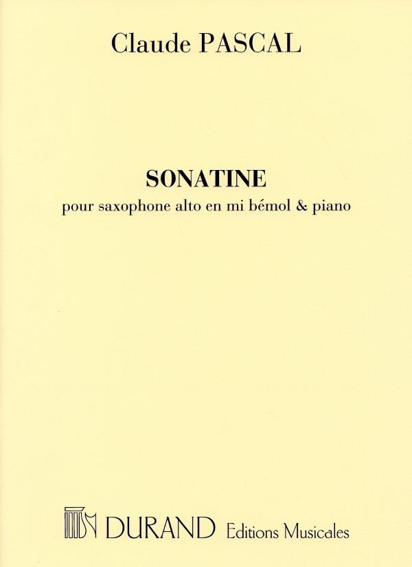 Sonatine(1947)para saxofón alto y piano. Claude Pascal