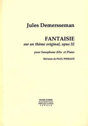 Fantaisieop.32(1862)para saxofón alto y piano.JulesDemersseman