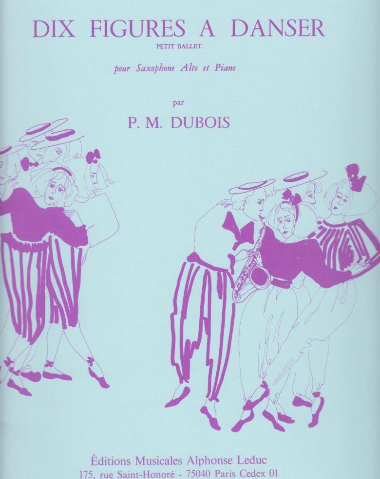 DixFiguresaDanser(1962) para saxofón alto y piano. PierreMax Dubois