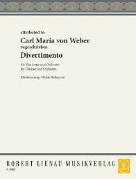DivertimentoinEs-Dur(1815)para clarinete y piano. CarlMariavonWeber