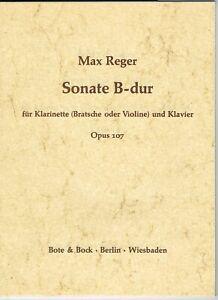 SonateinB-Durop.107para clarinete y piano.Max Reger