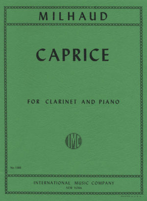 Capricepara clarinete y piano.Darius Milhaud