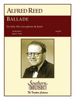 Ballade(1956)para saxofón alto y piano.Alfred Reed