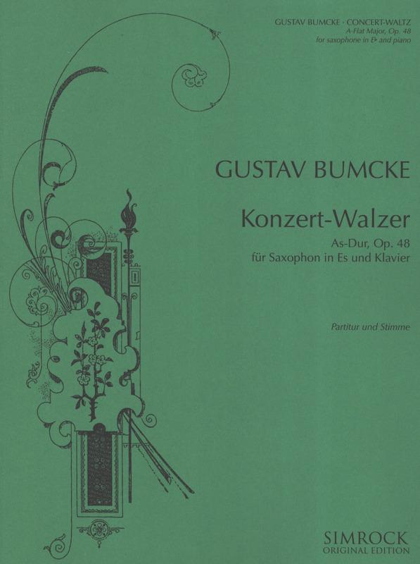 Konzert-WalzerinAs-Durop.48(1929)para saxofón alto y piano. Gustav Bumcke