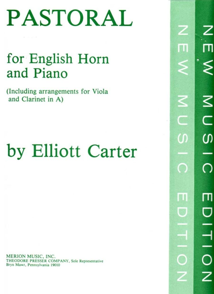 Pastoral(1945)para saxofón alto y piano.Elliott Carter