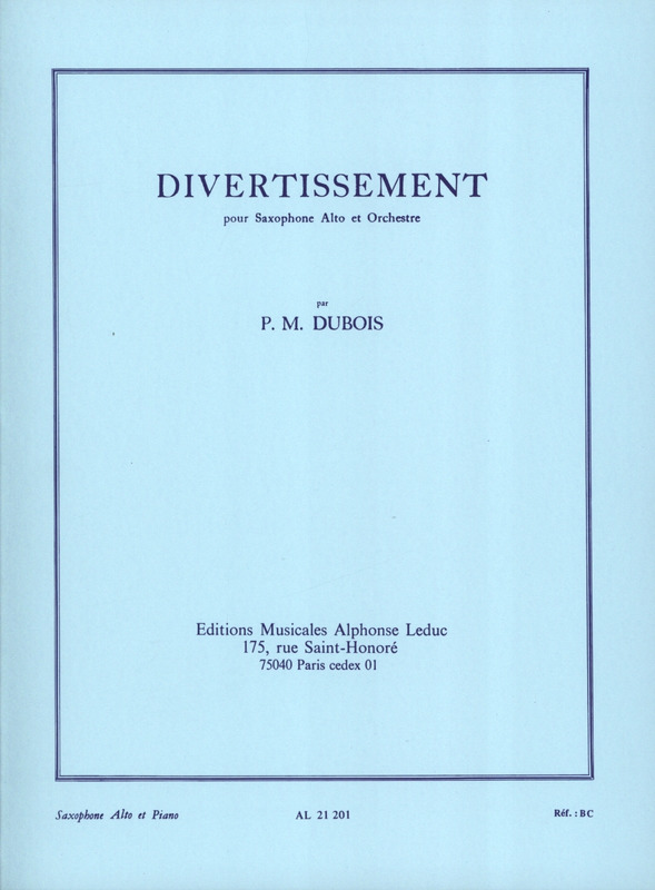 Divertissement(1953) para saxofón alto y piano. PierreMax Dubois