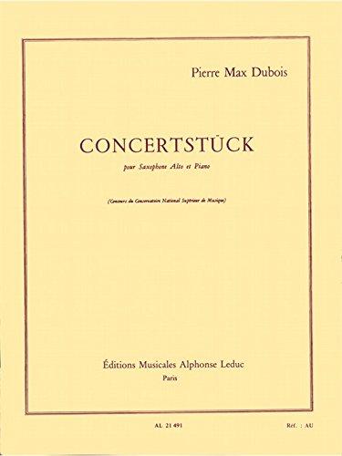 Concertstück(1955)para saxofón alto y piano. PierreMax Dubois