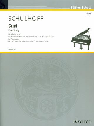 Susi(1937) FoxSongpara saxofón alto y piano.Erwin Schulhoff