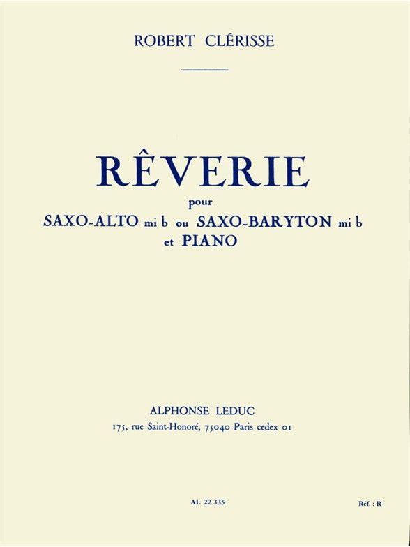 Reverie(1958)para saxofón alto o barítono y piano. Robert Clerisse