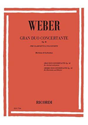 GrandDuoConcertantop.48para clarinete y piano. CarlMariavonWeber