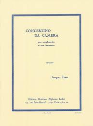 ConcertinodaCamera(1935)para saxofón alto y piano. Jacques Ibert