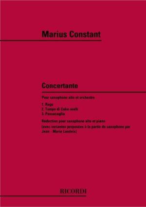 Concertante(1977)para saxofón alto y orquesta. Marius Constant