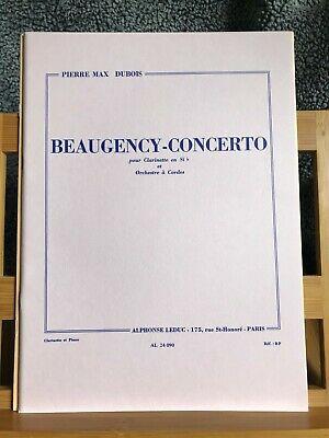 Beaugency-Concerto(1969)para clariente y cuerdas.PierreMax Dubois