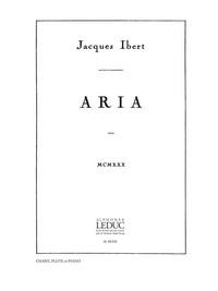 Aria(1931) para clarinete en La y piano. Jacques Ibert