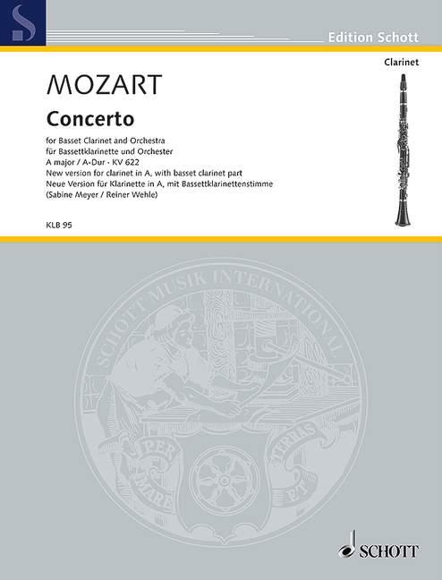 KonzertinA-DurKV622para clarinete en La o clarinete. WolfgangAmadeusMozart