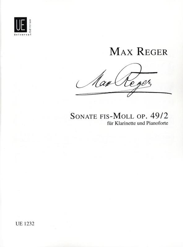 Sonateinfis-mollop.49No.2(1900)para clarinete en La y piano.Max Reger