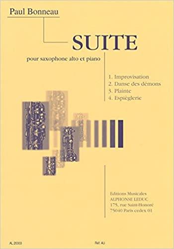 Suite(1944)para saxofón alto y piano. Paul Bonneau