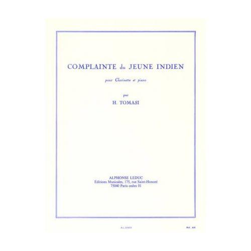 ComplainteduJeuneIndien(1949)para clarinete y piano.Henri Tomasi