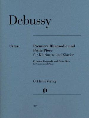 PetitePieceundPremiereRhapsodiepara clarinete y piano.Claude Debussy