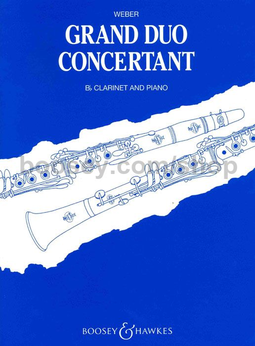 Grand Duo Concertant op.48 para clarinete y piano. Carl Maria von Weber