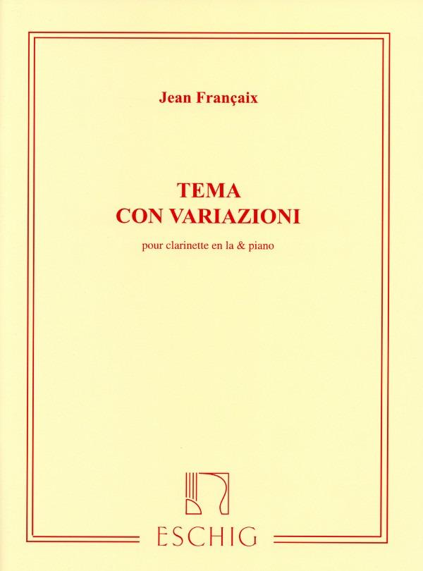 TemaconVariazioni(1974) para clarinete en La y piano.Jean Francaix