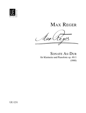SonateinAs-Durop.49No.1(1900)para clarinete y piano. Max Reger