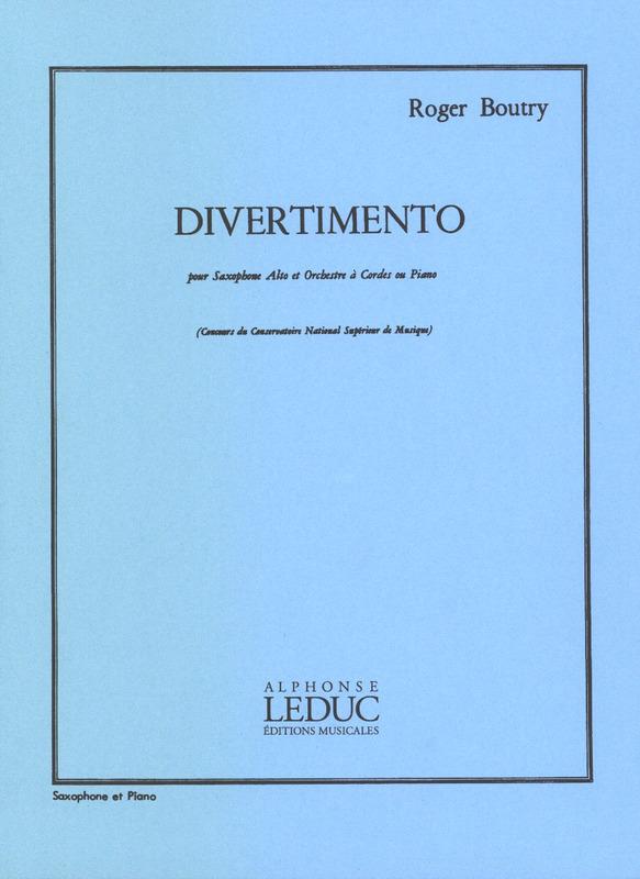 Divertimento(1964)para saxofón alto y piano. Roger Boutry