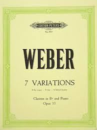 7Variationenop.33para clarinete y piano. CarlMariavonWeber