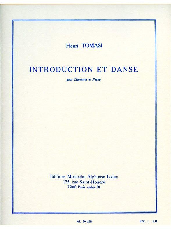 IntroductionetDanse(1949)para clarinete y piano. Henri Tomasi