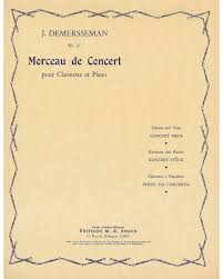 MorceaudeConcertop.31para clarinete y piano. Jules Demersseman