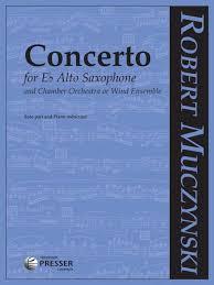 Concertoop.41(1981)para saxofón alto y orquesta. Robert Muczynski