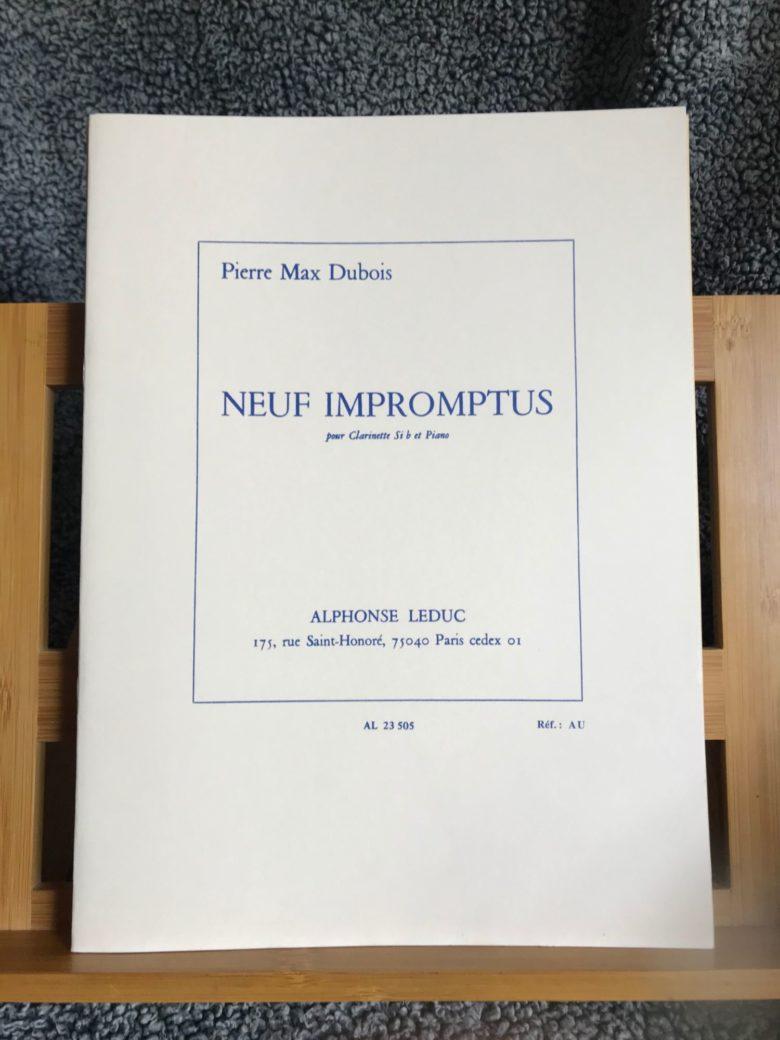 NeufImpromtus(1965)para clarinete y piano. PierreMax Dubois
