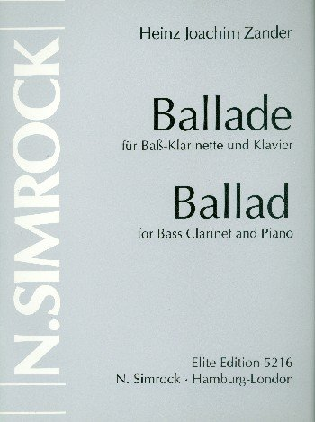 Balladepara clarinete bajo y piano. HeinzJoachim Zander