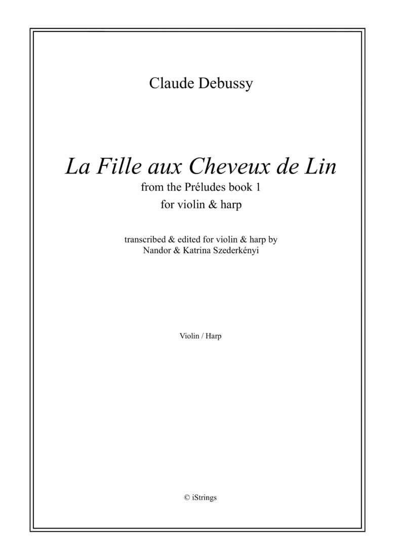 LaFilleauxCheveuxdeLinundBruyerespara saxofón alto o soprano. ClaudeDebussy